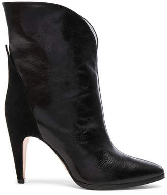 Givenchy Leather & Suede GV3 Mid Calf Boots