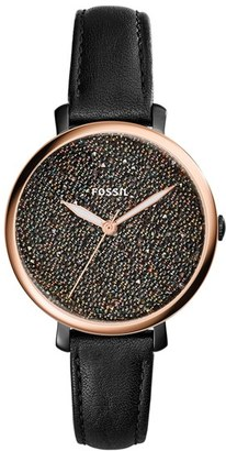 Women's Fossil Jacqueline Leather Strap Watch, 36Mm $135 thestylecure.com