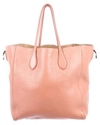 Pre Owned At Therealreal Rochas Iridescent Leather Tote
