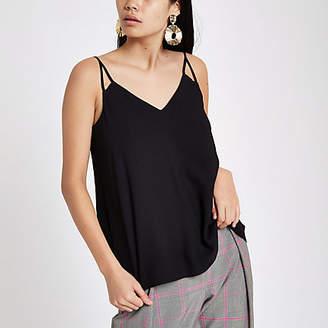 River Island Womens Black split strap cami top