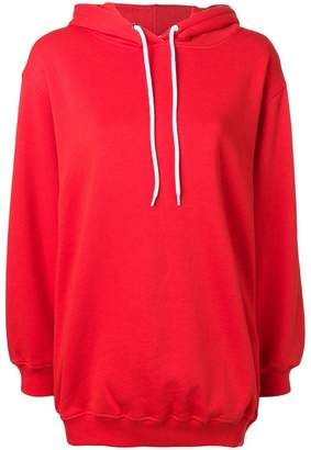 MSGM oversized hooded sweatshirt