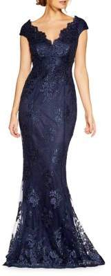 Quiz Bardot Fishtail Trumpet Gown