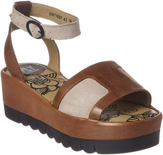 Fly London Bera Leather Platform Sandal