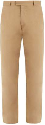 Raey Flat-front cotton skinny chino trousers