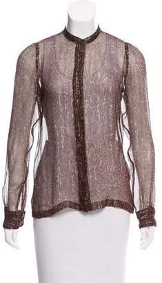 Dries Van Noten Silk Button-Up Top