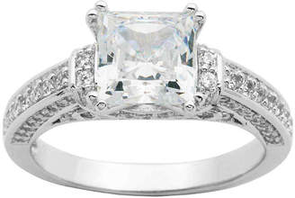 JCPenney FINE JEWELRY DiamonArt Princess-Cut Cubic Zirconia Ring