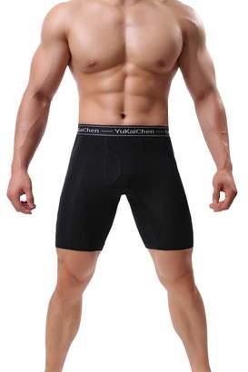 070abc344898 Fly London YuKaiChen Men's Soft Bamboo Fiber Underwear Long Boxer Briefs  Function 4-Pack XXL