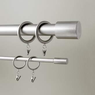 west elm Round Metal Curtain Rings (Set Of 7) - Brushed Nickel