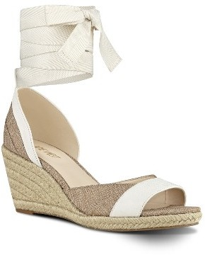 Women's Nine West Jaxel Ankle Tie Wedge Sandal $78.95 thestylecure.com