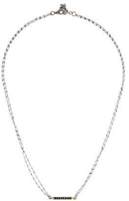 Carolina Bucci 18K Sapphire Mini Bar Pendant Necklace