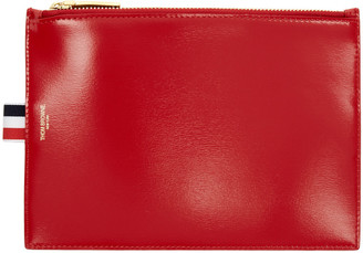 Thom Browne Red Large Coin Pouch $450 thestylecure.com