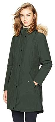 Haven Outerwear Women's Rain Anorak with Faux Fur Hood