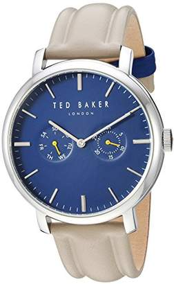 Ted Baker Men's 'Trent' Quartz Stainless Steel and Leather Watch