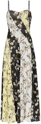 Off-White floral print side split dress