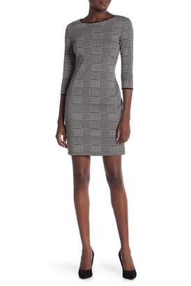 Amelia Houndstooth 3\u002F4 Sleeve Dress