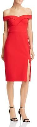 Aidan Mattox Off-the-Shoulder Dress