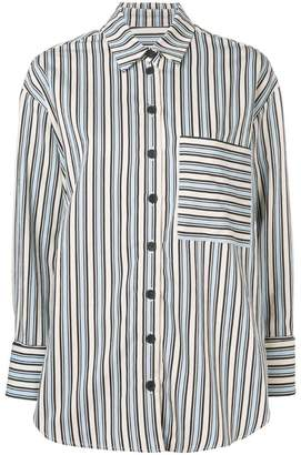 Parker Chinti & stripe buttoned shirt