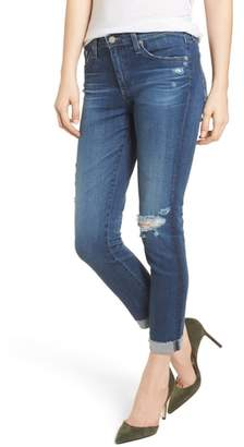 AG Jeans Prima Ripped Roll-Up Skinny Jeans