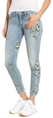 Women's Blanknyc Floral Embroidered Skinny Jeans $128 thestylecure.com
