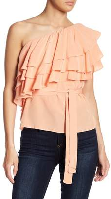 Endless Rose Layered Ruffle One-Shoulder Top