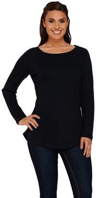 Isaac Mizrahi Live! Essentials Shirttail Hem Knit Tunic