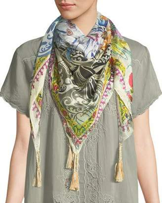 Johnny Was Damour Silk Georgette Scarf