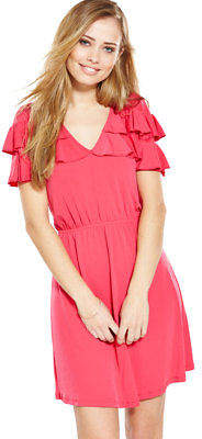Very Frill V-Neck Dress