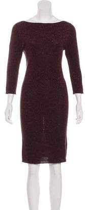 Joseph Metallic Rib Knit Dress