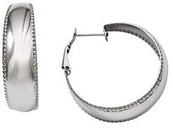 Steel by Design Stainless Steel Polished & Textured Edge Hoop E