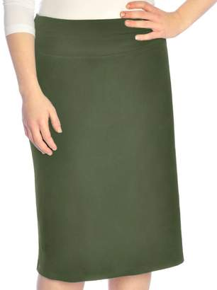 de56ce8e4ed Kosher Casual Women s Modest Dressy Silky   Wrinkle Free Straight  Knee-Length Skirt Extra Small