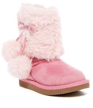 Harper Canyon Lil Mindy Faux Fur Trimmed Boot (Toddler)