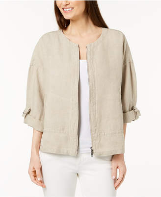 Eileen Fisher Organic Linen Utility Jacket