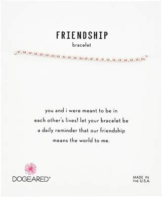 Dogeared Friendship Bracelet, Flat Bead Pink Silk Bracelet Bracelet
