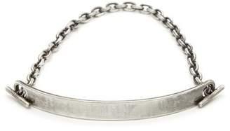 M. Cohen 7mm Silver Fine Scale Top Id Bar Bracelet