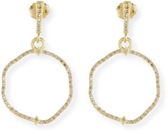 Armenta Old Word Sueno Wavy Circle Earrings with Diamonds