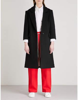 Mo&Co. Single-breasted wool-blend coat