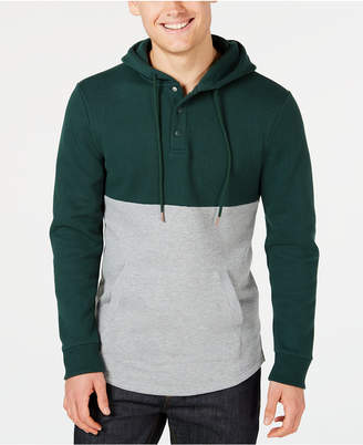 American Rag Men Colorblocked Fleece Hoodie