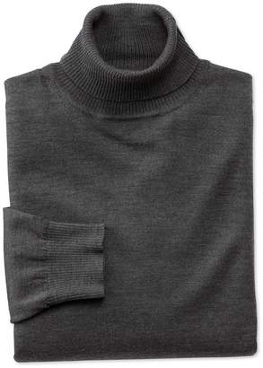 Charles Tyrwhitt Charcoal Merino Wool Roll Neck Sweater Size Medium