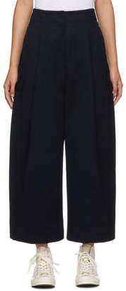 Studio Nicholson Navy Dordoni Volume Pleat Trouser