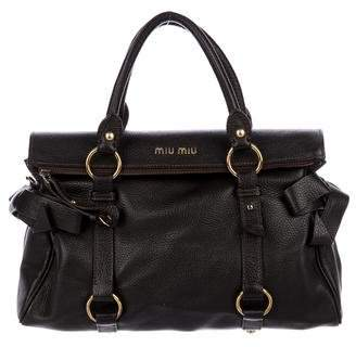 Miu Miu Small Vitello Bow Satchel