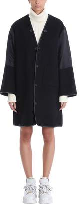Maison Margiela Black Mesh Wool Coat