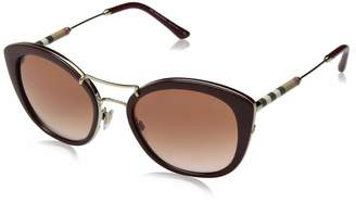 Burberry BE4251Q 340313 Bordeaux BE4251Q Round Sunglasses Lens Category 2
