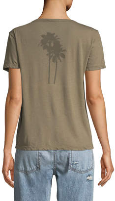 James Perse Palm Tree Cotton Graphic Tee