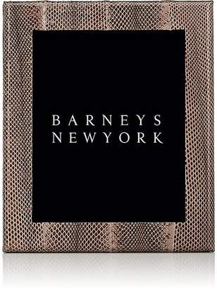 """Barneys New York Studio Python-Embossed Leather 8"""" x 10"""" Picture Frame"""