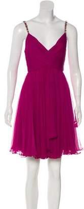 Marchesa Embellished Sleeveless Dress