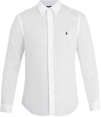 Polo Ralph Lauren Logo-embroidered linen shirt