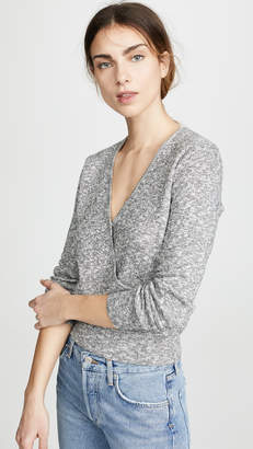 Madewell Rose Rib Wrap Sweater