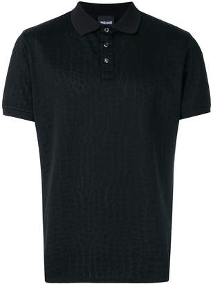 Just Cavalli embossed material polo shirt c