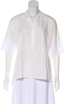 Akris Punto Collared Short Sleeve Blouse