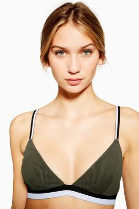 Topshop Ribbed Padded Triangle Bra